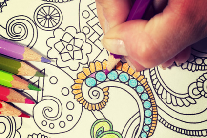 "Stressed? A ""Grown Up"" Coloring Book Can Help!"